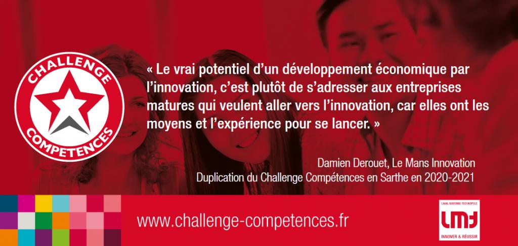 Challenge Compétences citation de Damien Derouet